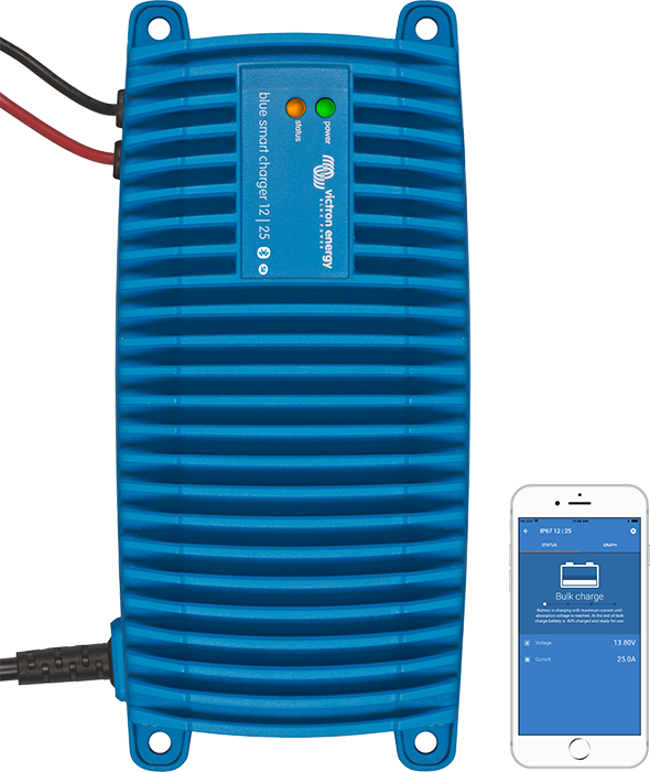 Blue Smart IP67 batterioplader vandtæt